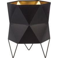TK Lighting Siro Black lampa biurkowa 1x15W czarna/złota 3052
