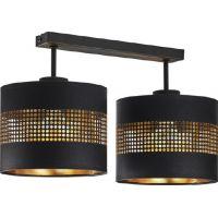 TK Lighting Tago Black lampa podsufitowa 2x15W czarna/złota 3212