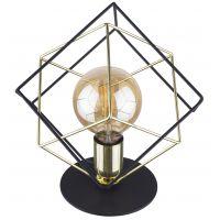 TK Lighting Alambre lampa biurkowa 1x60W czarna/złota 5450