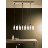 Vesoi IdeaBottles 100/s8 lampa wisząca 8x4W nikiel/szkło piaskowane/czarny SO00020
