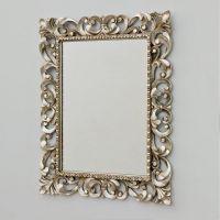Art Ceram Barocca lustro 73x93 cm prostokątne antyczne srebro ACS00151