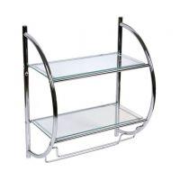 Awd Interior półka wisząca chrom/szkło przezroczyste AWD02050029