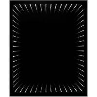Dubiel Vitrum Wenecja lustro prostokątne 62x50 cm z oświetleniem