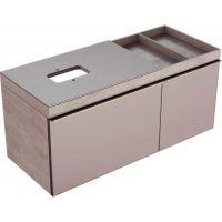 Geberit Citterio szafka 118.4 podumywalkowa wisząca taupe/dąb beżowy 500.564.JI.1