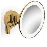 Stella lusterko kosmetyczne z oświetleniem LED złoty połysk 22.00230-G