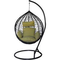 Eurohit Amber fotel wiszący ogrodowy czarno-oliwkowy
