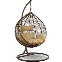 Eurohit Amber fotel wiszący ogrodowy brązowo-beżowy