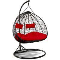 Eurohit Amber Dubble fotel wiszący ogrodowy 2-osobowy czarny-burgund