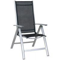 Mirpol Mars krzesło ogrodowe aluminium szare/materiał czarny MIR-T972