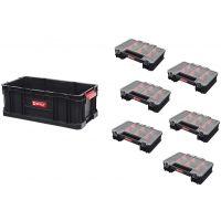 Qbrick System Two zestaw pojemnik do przechowywania Box 200 i sześć organizerów Multi czarny Z251613PG003