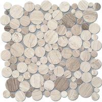 Tubądzin Mozaiki 2016 mozaika ścienna Drops Stone Grey Circle 30,5x30,5cm MS-01-172-0305-0305-1-009