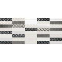 NovaBell Class mozaika ścienna 26x61 inciso white/metal CSWD95K