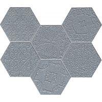 Tubądzin Lace mozaika Ścienna Graphite 28,9x22,1cm tubLacGra289x221
