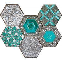Tubądzin Mozaiki 2016 mozaika ścienna Lace absinthe 28,9x22,1 cm