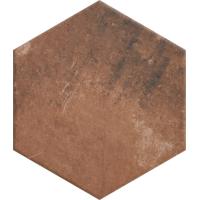 Paradyż Scandiano płytka podłogowa Heksagon Rosso 26X26 cm