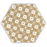 Paradyż Shiny Lines dekor ścienno-podłogowy 19,8x17,1 cm motyw D złoty/biały mat
