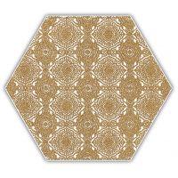 Paradyż Shiny Lines dekor ścienno-podłogowy 19,8x17,1 cm motyw E złoty/biały mat