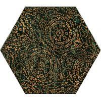 Paradyż Urban Colours dekor ścienny 19.8x17.1 cm STR A zielony połysk