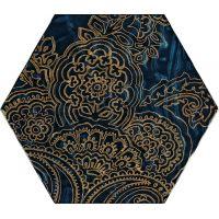 Paradyż Urban Colours dekor ścienny 19,8x17,1 cm motyw B STR niebieski/złoty poler