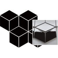 Paradyż mozaika ścienna 20,4x23,8 cm uniwersalna prasowana romb hexagon czarna
