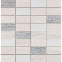Tubądzin Malena mozaika ścienna 30,8x30,3 cm szary połysk