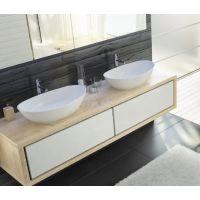 Hoesch Namur umywalka 70x40cm nablatowa owalna biała matowa 4412.013