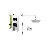 KFA Armatura Mokait zestaw prysznicowy podtynkowy z deszczownicą chrom 5539-501-00
