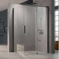 Kermi Nica NI TWL ścianka prysznicowa 80 cm lewa profile czarny soft NITWL080203PK