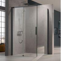 Kermi Nica NI TWR ścianka prysznicowa 90 cm prawa profile czarny soft NITWR090203PK