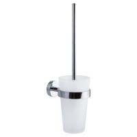 Tesa Smooz szczotka toaletowa bez wiercenia szkło/chrom 40316
