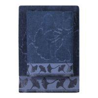 Texpol Gingko ręcznik łazienkowy 50x100 cm wiskoza bambusowa granat