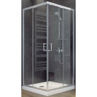 Besco Modern 185 kabina prysznicowa 80 cm kwadratowa szkło przezroczyste MK-80-185-C