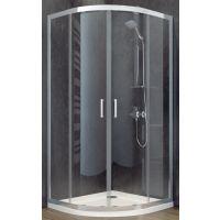 Besco Modern 185 kabina prysznicowa 90x90 cm półokrągła szkło przezroczyste MP-90-185-C