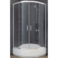 Besco Modern 165 kabina prysznicowa 90x90 cm półokrągła szkło przezroczyste MP-90-165-C