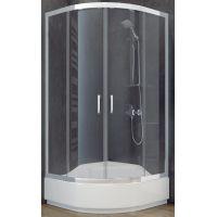 Besco Modern 165 kabina prysznicowa 80x80 cm półokrągła szkło przezroczyste MP-80-165-C