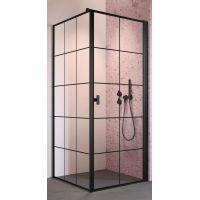 Radaway Nes Black S1 ścianka prysznicowa 90 cm boczna szkło Factory 10039090-54-55