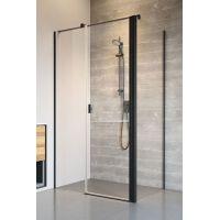 Radaway Nes Black KDS II ścianka prysznicowa 90 cm boczna szkło przezroczyste 10040090-54-01