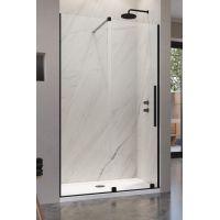 Radaway Furo Black DWJ drzwi prysznicowe 140 cm wnękowe lewe czarne/szkło przezroczyste 10107722-54-01L/10110680-01-01
