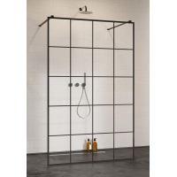 Radaway Modo X Black I Factory ścianka prysznicowa 130 cm szkło przezroczyste 388334-54-57