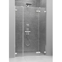 Radaway Arta DWJS drzwi prysznicowe 130 cm ze ściankami stałymi prawe 386455-03-01R/386122-03-01R