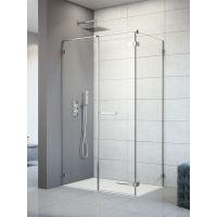 Radaway Arta KDS II drzwi prysznicowe 100 cm ze ścianką stałą lewe szkło przezroczyste 386521-03-01R/386103-03-01