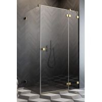 Radaway Essenza Pro Gold KDJ drzwi prysznicowe 110 cm prawe złoty/szkło przezroczyste 10097110-09-01R