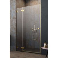Radaway Essenza Pro Gold DWJ drzwi prysznicowe 130 cm wnękowe lewe złoty/szkło przezroczyste 10099130-09-01L