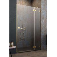 Radaway Essenza Pro Gold DWJ drzwi prysznicowe 90 cm wnękowe prawe złoty/szkło przezroczyste 10099090-09-01R