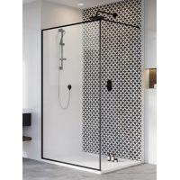 Radaway Modo X Black II Frame Walk-In ścianka prysznicowa 150 cm wolnostojąca czarny/szkło przezroczyste 389354-54-56
