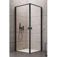 Radaway Nes Black KDD I drzwi prysznicowe 80 cm lewe szkło Frame 10021080-54-56L