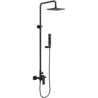 Excellent Keria zestaw prysznicowy z deszczownicą czarny AREX.2081BL