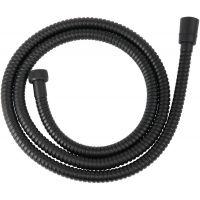 Ferro Steel Black wąż prysznicowy 150 cm czarny półmat W33