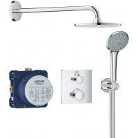 Grohe Grohtherm zestaw prysznicowy podtynkowy termostatyczny chrom 34734000