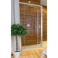 Hüppe Ena 2.0 4-kąt drzwi prysznicowe 120 cm srebrny połysk/szkło przezroczyste Anti-Plaque 140402.069.322